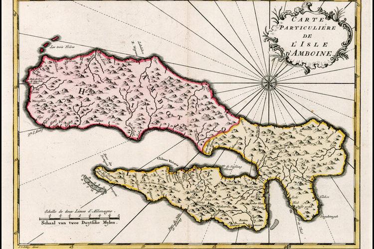 Het eiland Ambon, kaart uit 1773